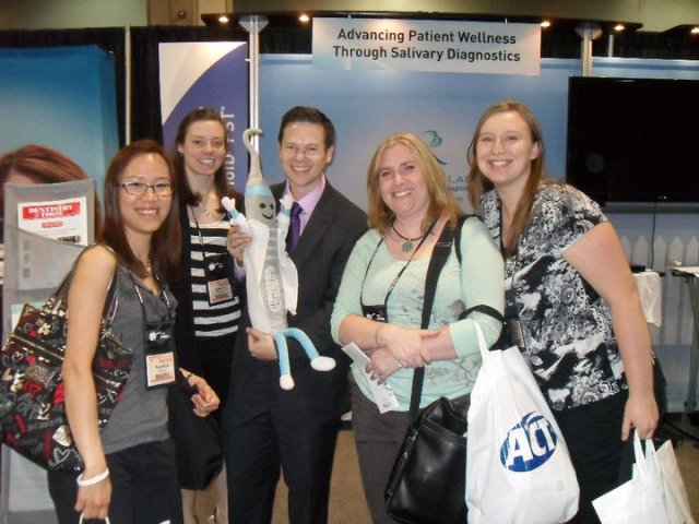 It's Nevi with me and some new friends at ADHA2011