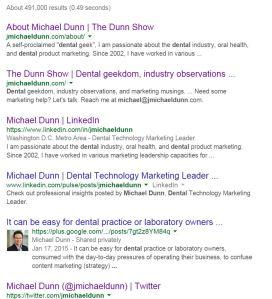 Google Michael Dunn dental
