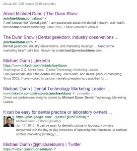 Google Michael Dunn dental